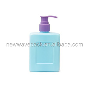 260ml pet plastic square bottles for shampoo with pump