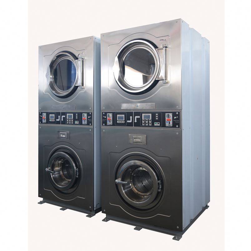 Commercial laundry machine-coin operating washer and dryer