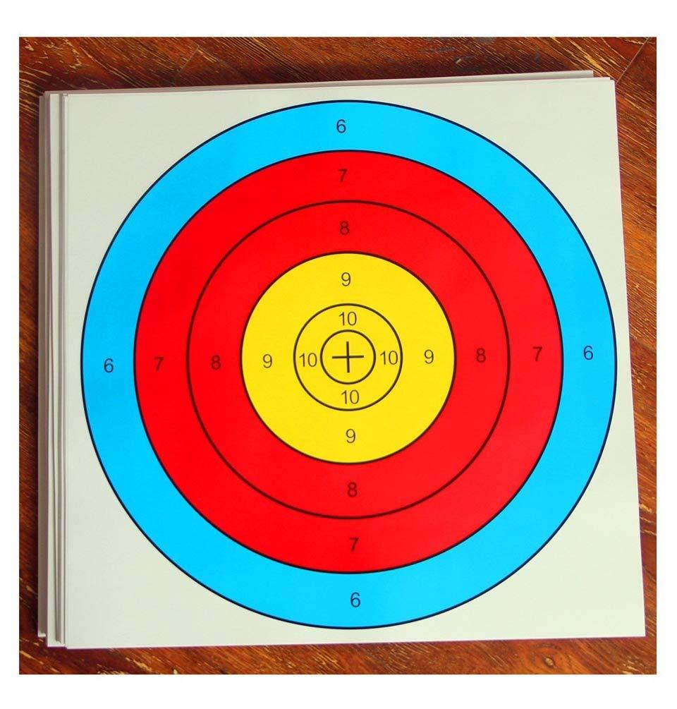cf6d5eda7da Get Quotations · ASeeker 20Pcs Archery Semicircular Target Paper Arrow  Targets Shooting Accessories