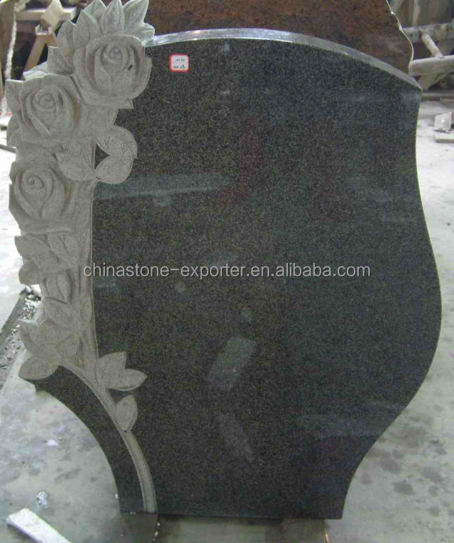 Euro style design of g654 granite monuments