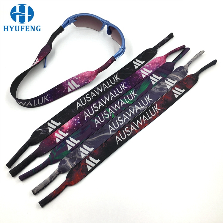 Factory Price Blue Color Custom Neoprene Neck Printed Strap