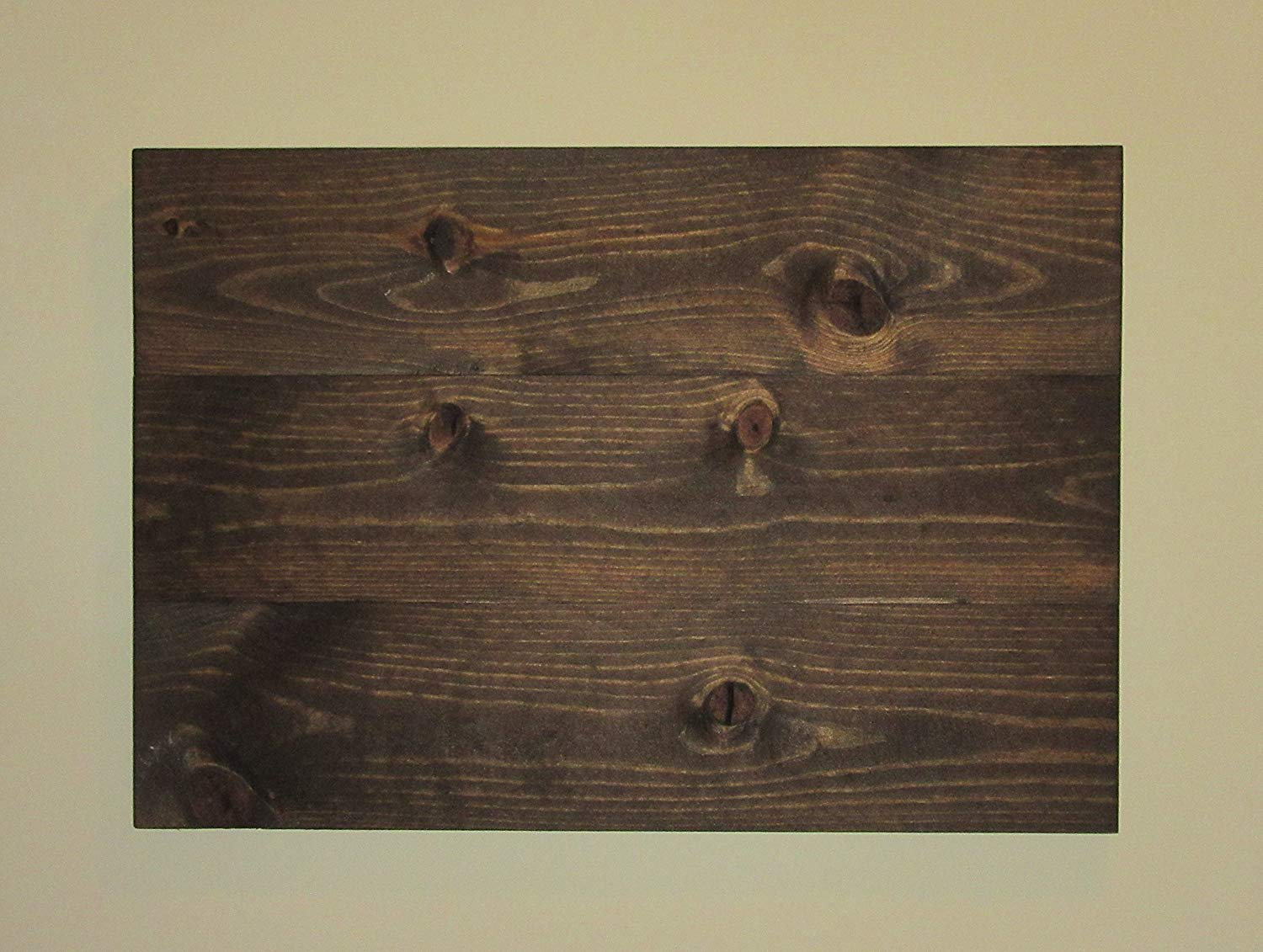 "Reclaimed wood blank sign, Stained 24""X 16.5"" Wood Canvas, Rustic Wall Art, Dark Walnut, Photography Backdrop, Rustic Decor"
