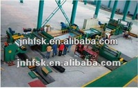 automatic uncoiler leveler and cutting line for steel coils