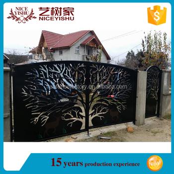 Niceyishu High Quality Ornamental Laser Cut Main Gate Designs ...