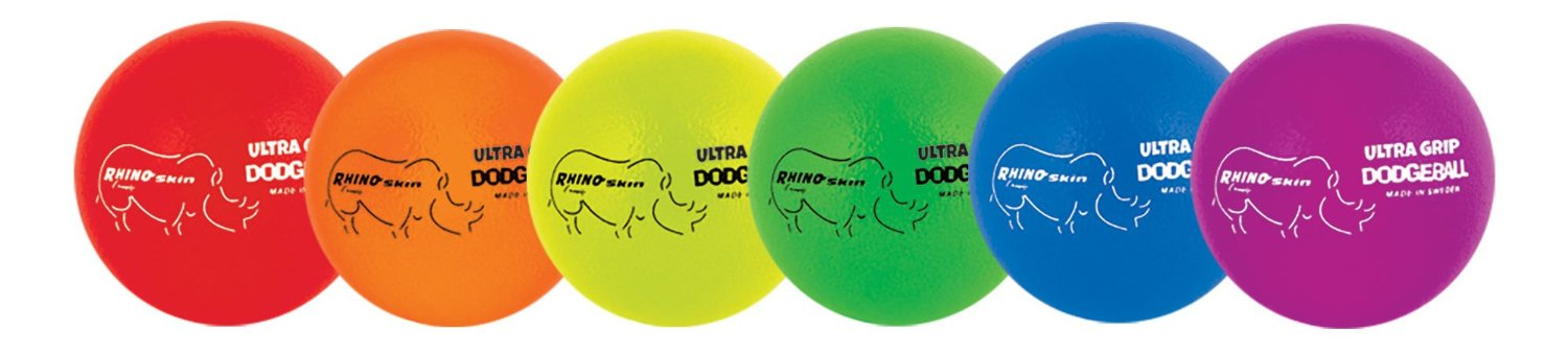 Champion Sports Rhino Skin Low Bounce Ultra Grip Dodgeball Set