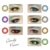 2017 wholesale Candy Vision bright colored cosmetic eye contact lenses