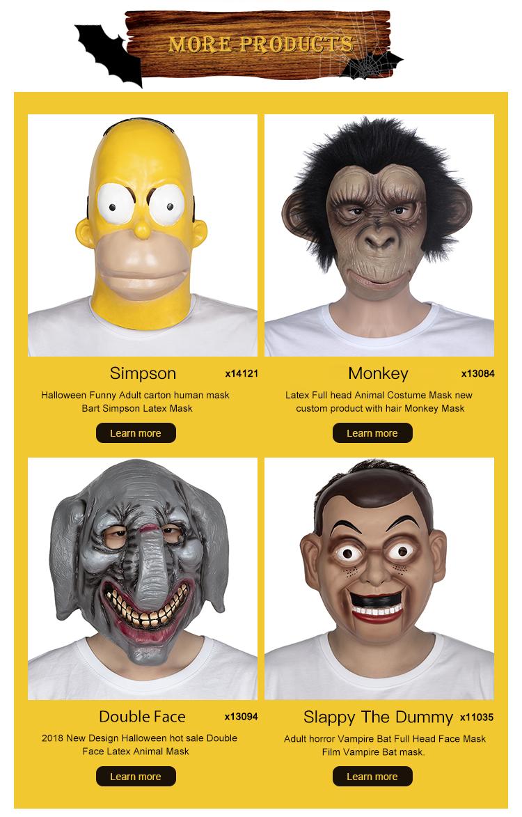 2018 Offre Spéciale PVC Nouveau M'embrasser Masque Horrible Moche Dents Acérées Diable Masque