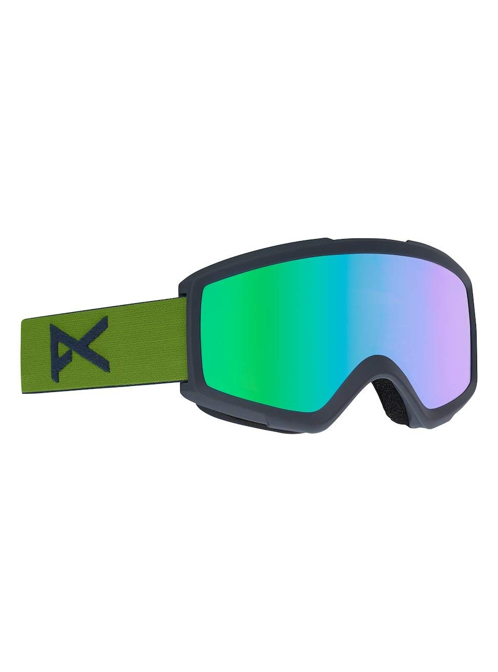 1dc26e27b60 Get Quotations · Anon Helix 2.0 w Spare Lens Snow Goggles One Size Forest  Green ~ Green Solex