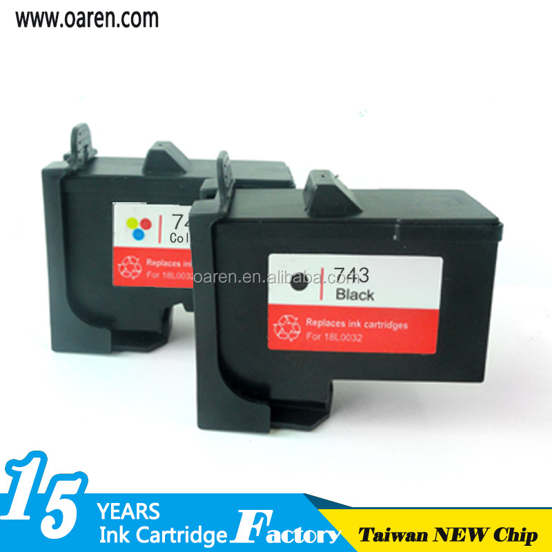 New technology high quality ink cartridge for copier for DELL 743 745 black ink