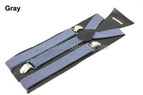 Black Suspenders for men Braces Adjustable with Button Holes Lycra Elastane