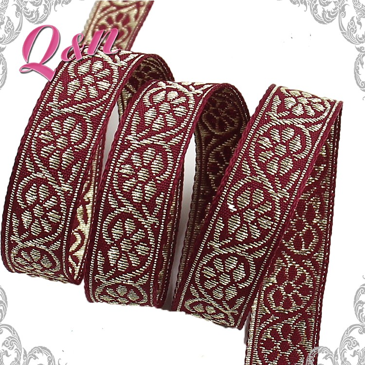 elegant attractive lady fabric jacquard ribbon for gift packing