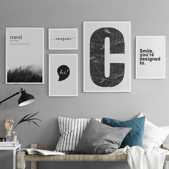 Nordic Posters And Prints Marble Wall Art Canvas Painting Quotes Wall Pictures For Living Room Scandinavian Style Buy Wall Art Pictures For