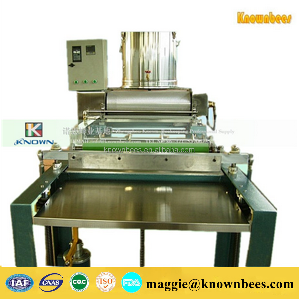 Capacity 15-20KG per hour Fully automatic beeswax sheet making machine