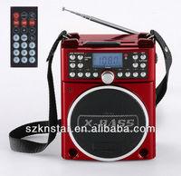 portable radio sd mp3 usb player with led light radio