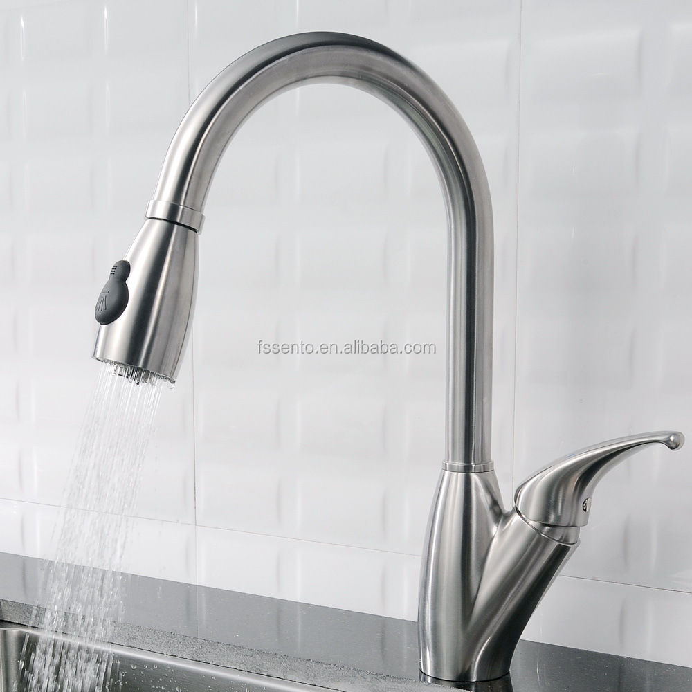 Stainless steel kitchen sink taps pull down water tap