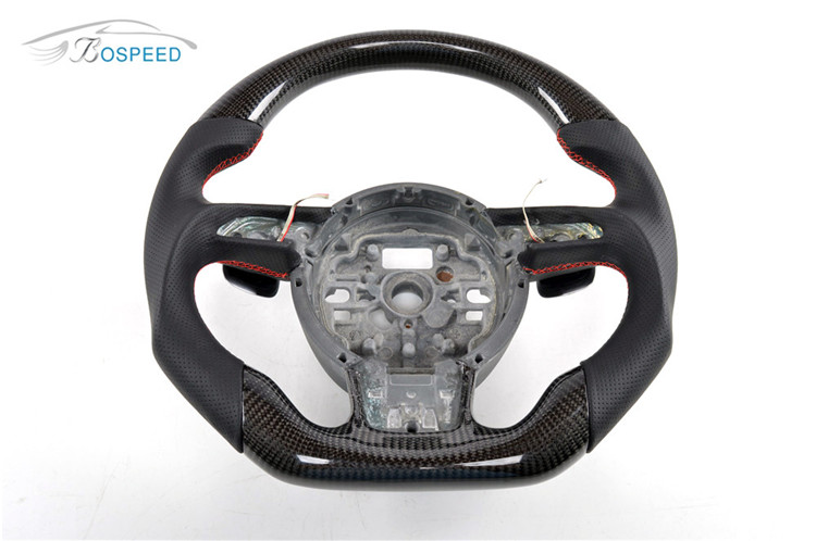 Car Styling 100% Real Carbon Fiber Racing Steering Wheel for Audi 2012 up S5 S6 A6 A7 S7 S-Line Carbon Steering Wheel Parts