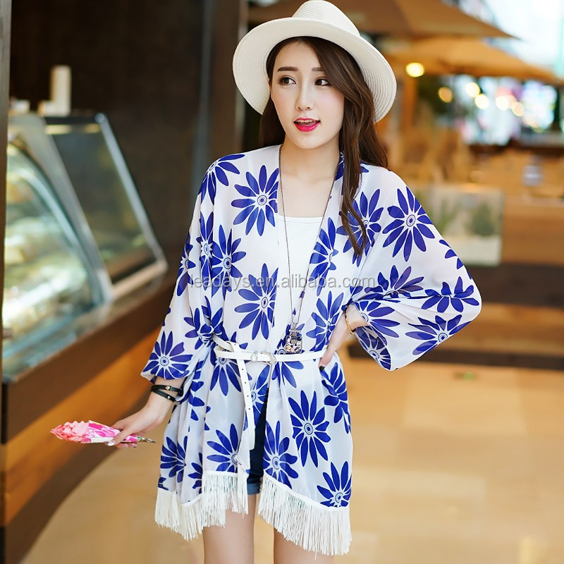 flower printing on sale high quality best selling lady beach wear kaftan