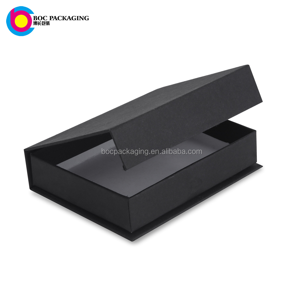 LOW MOQ NO MINIMUM Black Magnetic Closure Gift Box