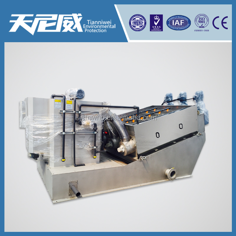 Top manufacturer sludge drying screw press for cosmetic wastewater
