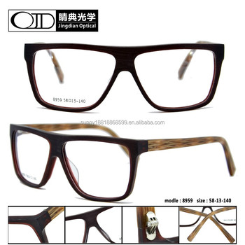 Straight Striped Tortoise Temple Matte High Quality Acetate Glasses ...
