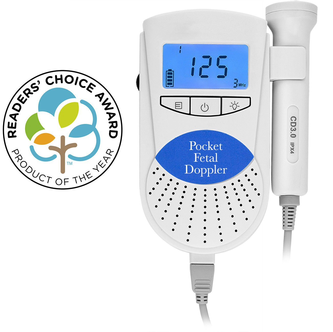Baby Monitor Sound Amplifier - Hear Your Baby's Kicks & Noise in Womb - FDA Approved for Home Use - Perfect Baby Shower Gift