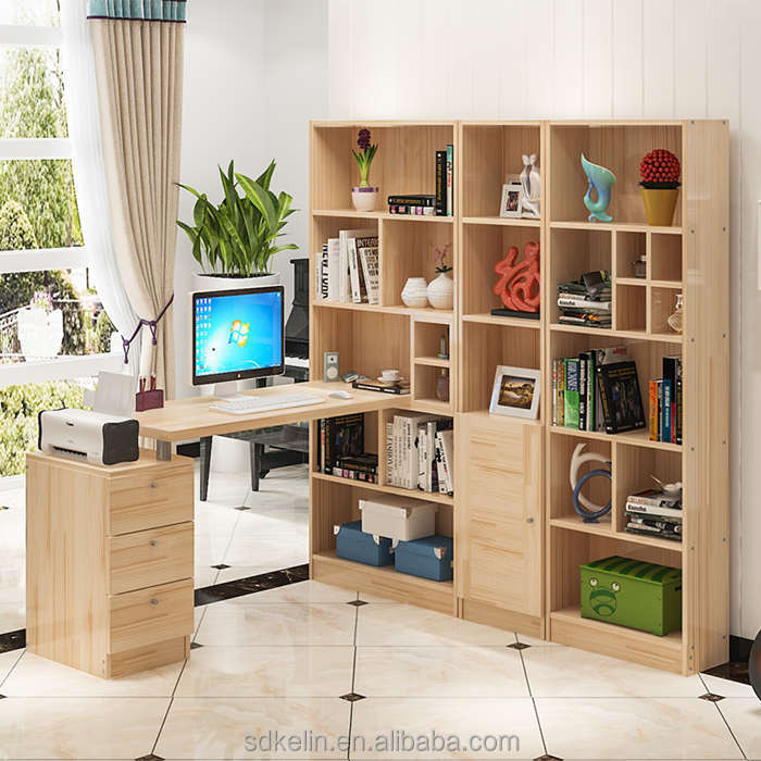 Custom computer desk with bookcase