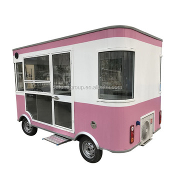 Outdoor ice cream small mobile food cart factory supplier hotdog food trailer for sale