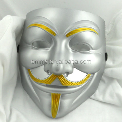 New V For Vendetta Anonymous Guy Fawkes Fancy Falks Mask Multi Color