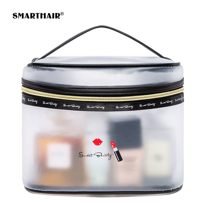Custom Cosmetische PVC Reizen Clear Private Label Make-Up Borstel Organizer Beauty Case Bag Groothandel