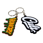 Factory cheap 2d custom shaped soft pvc keychain