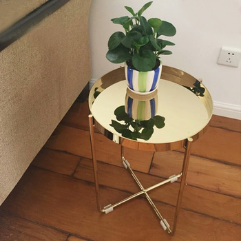 Customized Stainless Steel Frame Table With Top Marble Coffee