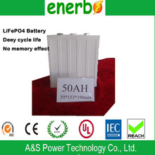 High efficience LiFePO4 cells 3.2v,50Ah prismatic battery large storage batteries