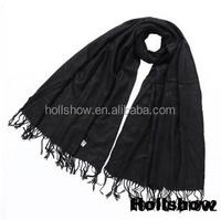 Classic Trend All-match Black Color Acrylic Scarf Turkish Pashmina Shawl