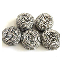 linyi manufacturer rstainless steel wire scrubber wool scourer for kitchen