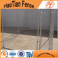 Anping chain link hot dipped galvanized large dog kennel for sale portable dog runs