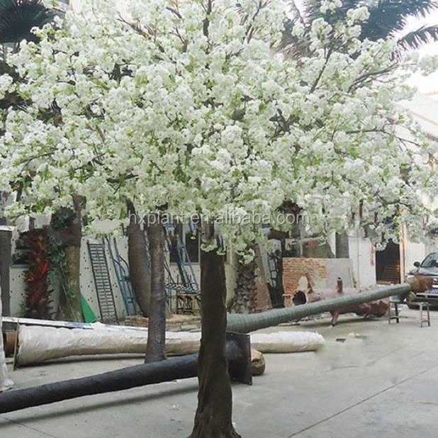 Large fake silk cherry blossom trees fake tree trunks