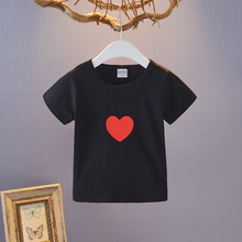 China Wholesale Cheap Unisex Love Printed Summer Cotton Custom Baby T Shirt