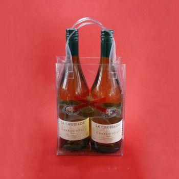 jetable en pvc transparent porte bi re fourre tout sac de gla on pour le vin buy sac gla ons. Black Bedroom Furniture Sets. Home Design Ideas