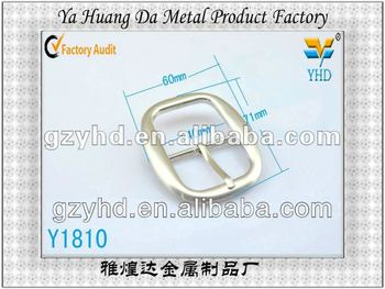 Gold accessory D ring pin buckles for bag fitting