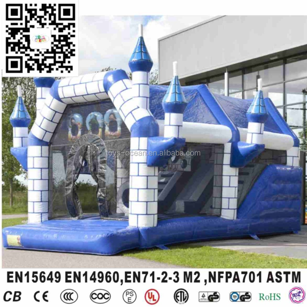 hot commerical inflatable shooter bouncy castle with slide/ inflatable bouncer/ inflatable jumping castle for sale