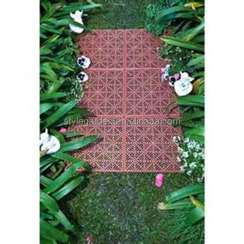 Garden Decorative Cheap Plastic Sideway Tile Flooring - Buy Plastic ...
