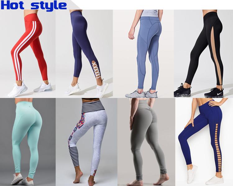 OEM di Fabbrica Spandex Vestito di Yoga Personalizzato di Alta Vita Delle Donne di Sport Maglia di compressione Palestra Leggings
