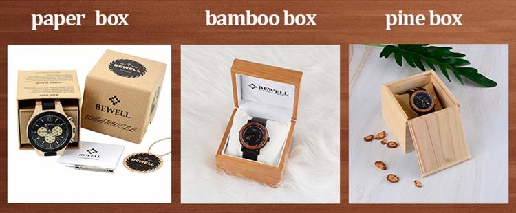 Wholesale Custom Logo Fashion Luxury Chronograph Wooden Watch