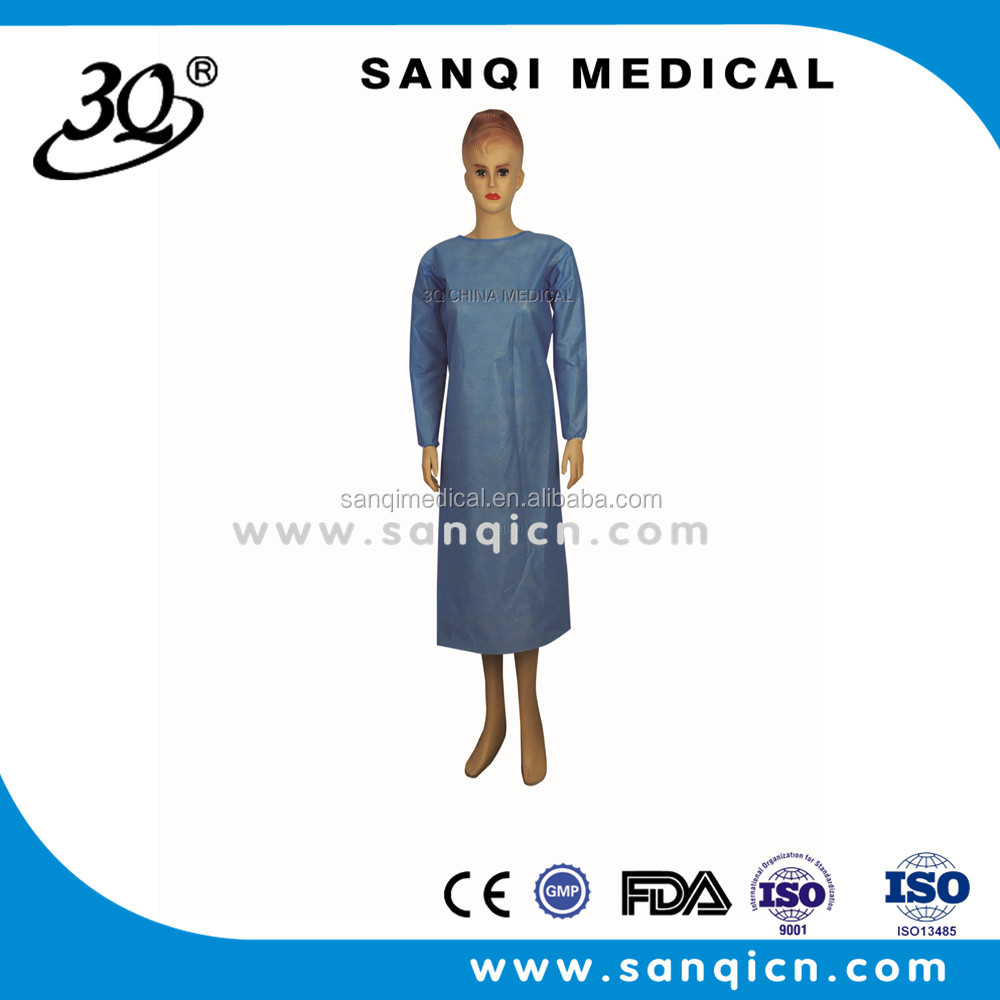 High Quality Medical non woven SMS /PPsterile disposable surgical gown/coverall for doctor