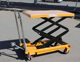 150kg Small scissor lift equipment single sissor lift table hand lift trolley for factory