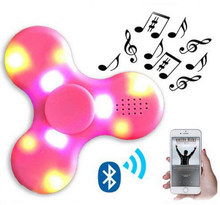 LED flower wind spinner MINI Bluetooth Speaker Music Spinner plastic game spinners For Autism And Kids Adult Funny Fidget Toy