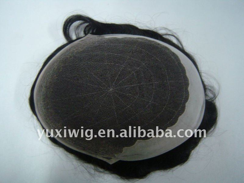 100% Indian Human Hair Men Toupee