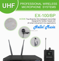 Wholesale professional uhf wireless microphone badypack system for ...
