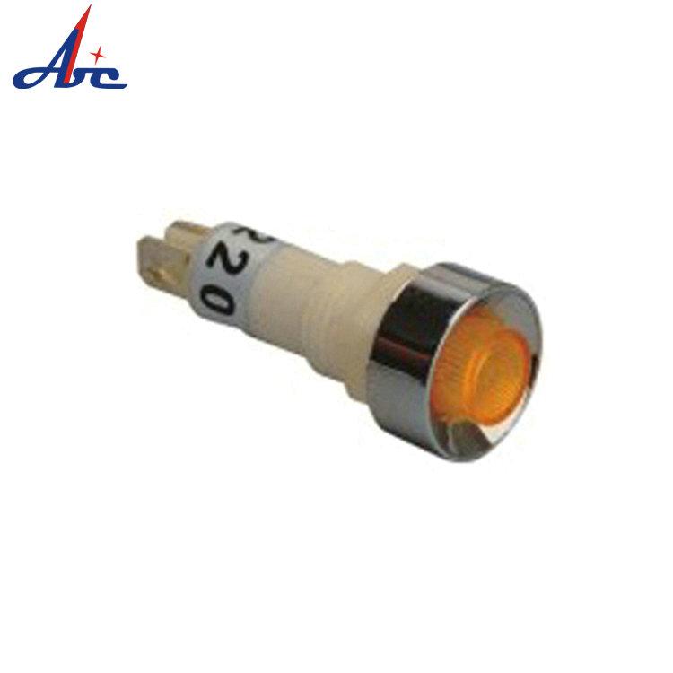 USA SELLER!!! 1 PC 8mm 12V White LED Metal Indicator Pilot Light Wire Leads..