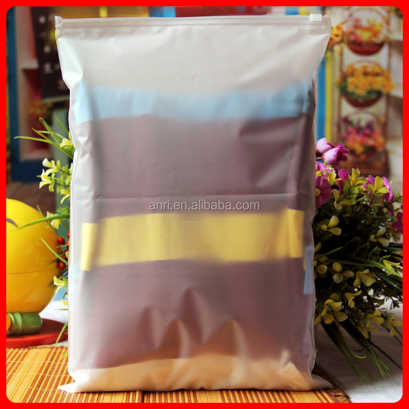 30 * 40 * 16 frosted zipper clothing packaging plastic bag to receive bag fall clothing bag only 10